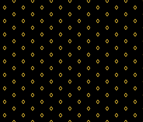 Diamond on Black fabric by pond_ripple on Spoonflower - custom fabric