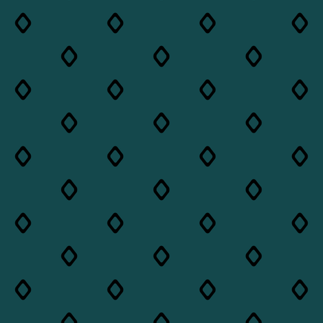 Diamond on Teal fabric by pond_ripple on Spoonflower - custom fabric