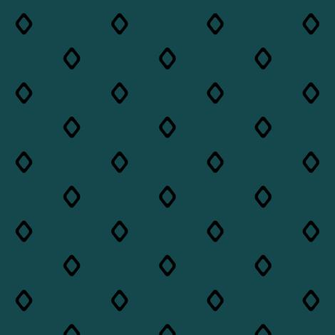 Diamond on Teal fabric by pond_ripple on Spoonflower - custom fabric