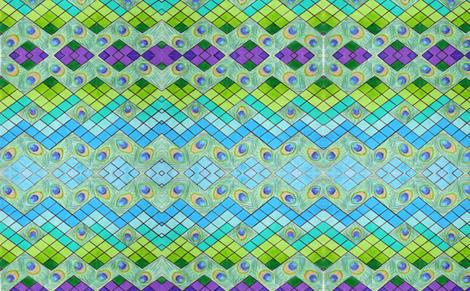 Zig-Zag Peacock fabric by windancerr13 on Spoonflower - custom fabric