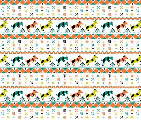 Hannah's Goats fabric by chad_grohman on Spoonflower - custom fabric