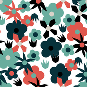 Retro Mixed Flower