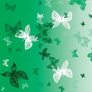 Lime Dancing Butterflies