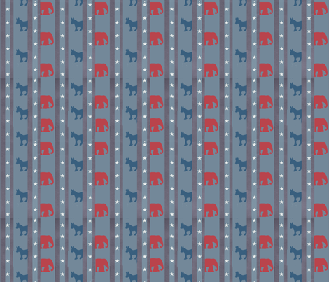 ElectionPartyfinal fabric by bouncycat on Spoonflower - custom fabric