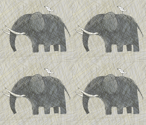 AMBOSELI KENYA elephants fabric by bzbdesigner on Spoonflower - custom fabric