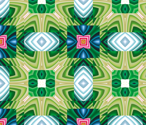 Flowery Incan Tiles 6 fabric by animotaxis on Spoonflower - custom fabric