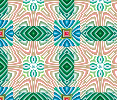 Flowery Incan Tiles 7 fabric by animotaxis on Spoonflower - custom fabric