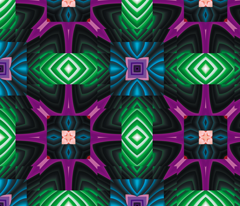 Flowery Incan Tiles 8 fabric by animotaxis on Spoonflower - custom fabric