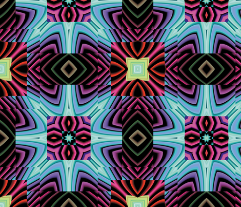 Flowery Incan Tiles 9 fabric by animotaxis on Spoonflower - custom fabric