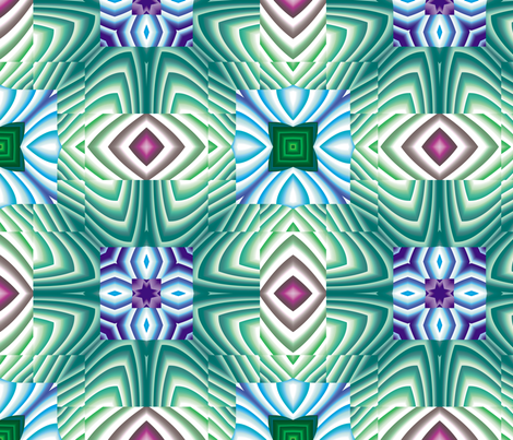 Flowery Incan Tiles 11 fabric by animotaxis on Spoonflower - custom fabric