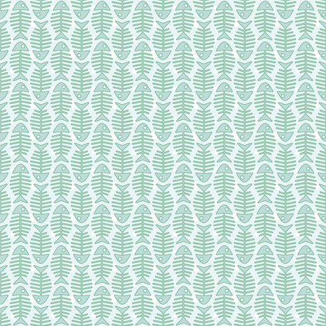 aqua_fish_02 fabric by woodmouse&bobbit on Spoonflower - custom fabric