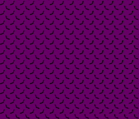 Cute bats on purple fabric by risarocksit on Spoonflower - custom fabric