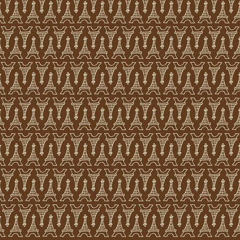 Souvenir Shop Brown fabric by heatherdutton on Spoonflower - custom fabric