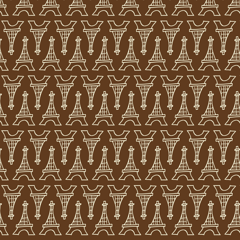 Souvenir Shop Brown fabric by heatherdutton on Spoonflower - custom fabric