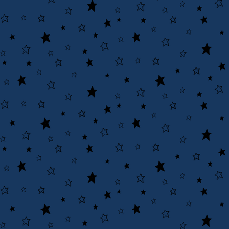 Black Stars on Dark Blue fabric by bohobear on Spoonflower - custom fabric