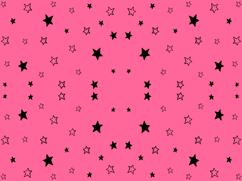 Star Pink And Black Charcoal Black Tiny Stars on