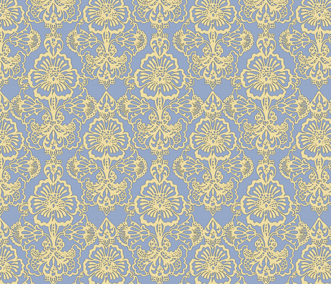 Cora Damask ~The Caitlyn fabric by peacoquettedesigns on Spoonflower - custom fabric