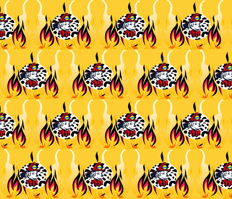 SPARKY THE FIRE RESCUE DOG fabric by bluevelvet on Spoonflower - custom fabric