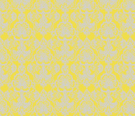 Cora Damask ~The Louisa fabric by peacoquettedesigns on Spoonflower - custom fabric