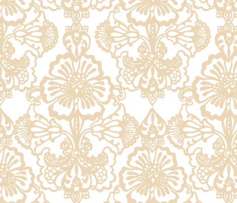 Cora Damask ~The Betty fabric by peacoquettedesigns on Spoonflower - custom fabric