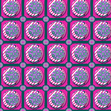 ZZ Kids Cheater Quilt: Stacked Circle Patches - MEDIUM fabric by tallulahdahling on Spoonflower - custom fabric
