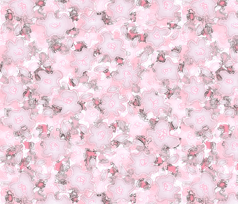 puddleflowersourcecherrylg fabric by wordfabric on Spoonflower - custom fabric