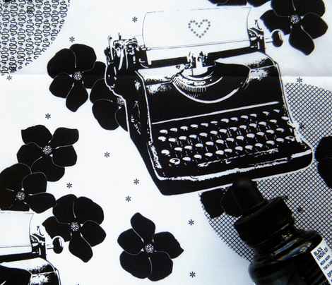 Black Flower Typewriters
