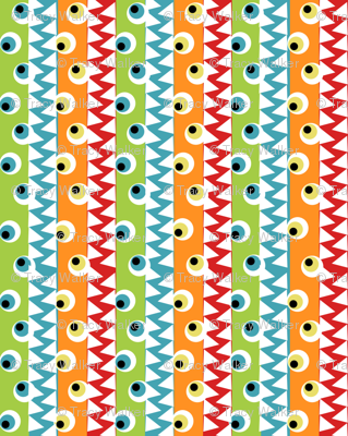 Monster eyes and teeth fabric tracydb70 spoonflower for Baby monster fabric