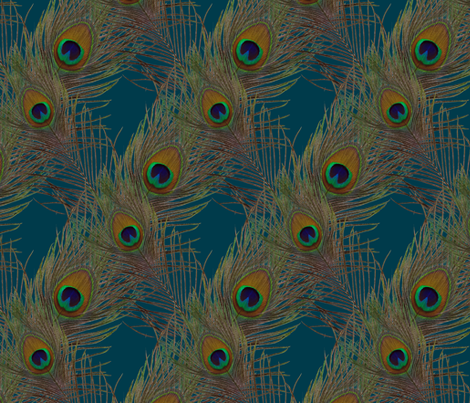The Fabulous Peacock Blue Diamond fabric by peacoquettedesigns on Spoonflower - custom fabric