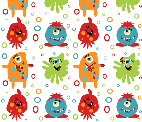 Monster Zombie fabric by tracydw70 on Spoonflower - custom fabric