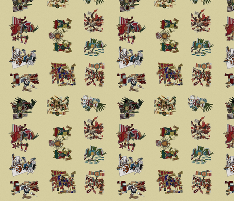Aztec gods fabric by mörky_muffin on Spoonflower - custom fabric