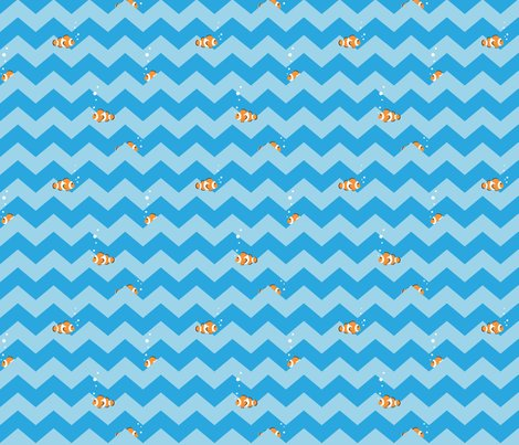 Rrclownfish_in_aqua_chevron_sea