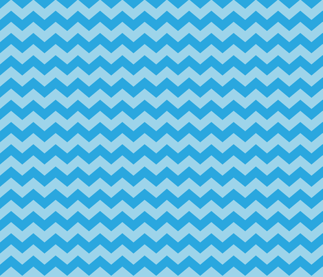 Zigzag Sea Chevrons (Aqua and Tropical Blue) fabric by hootenannit on Spoonflower - custom fabric