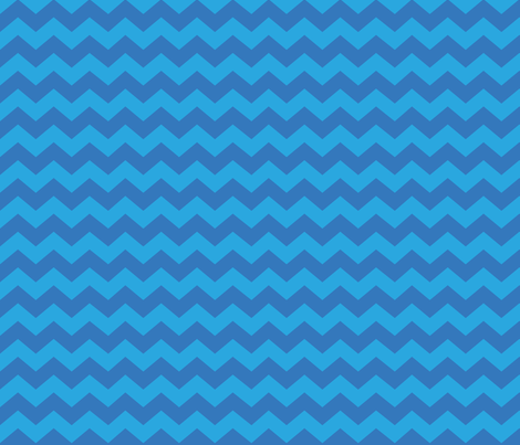 Zigzag Sea Chevrons (Blue and Aqua) fabric by hootenannit on Spoonflower - custom fabric