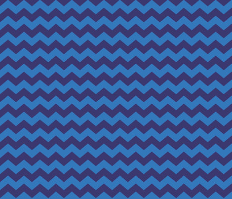 Zigzag Sea Chevrons (Indigo and Blue) fabric by hootenannit on Spoonflower - custom fabric