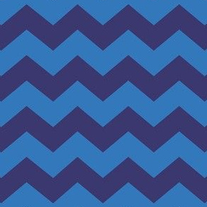 Zigzag Sea Chevrons (Indigo and Blue)