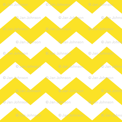 Zigzag Sea Chevrons (Yellow and White)