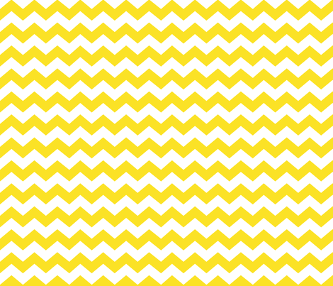 Zigzag Sea Chevrons (Yellow and White) fabric by hootenannit on Spoonflower - custom fabric