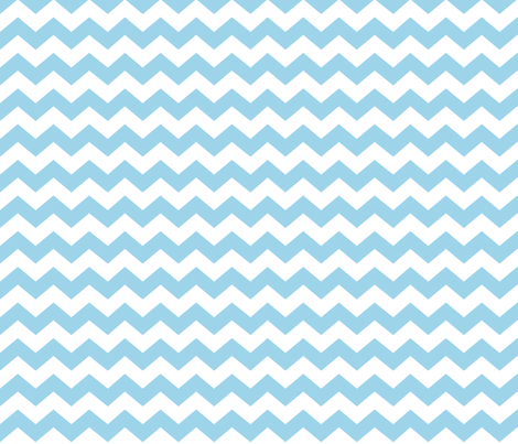 Zigzag Sea Chevrons (Tropical Blue and White) fabric by hootenannit on Spoonflower - custom fabric