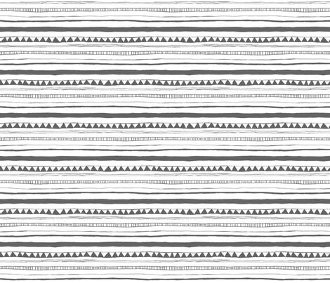 Drawn Stripe fabric by leanne on Spoonflower - custom fabric