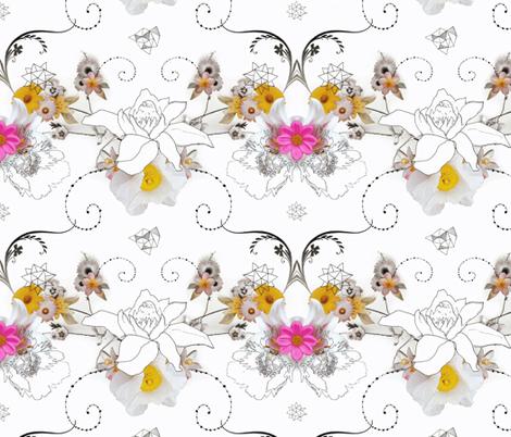 Paper Flowers fabric by milliondollardesign on Spoonflower - custom fabric