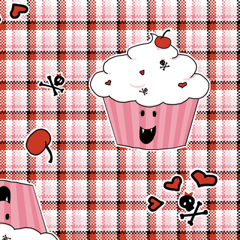 Cupcake Vampire fabric by fig+fence on Spoonflower - custom fabric