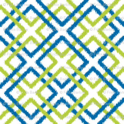 Weave Ikat in blue and green