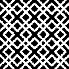 Weave Ikat _ Black and White