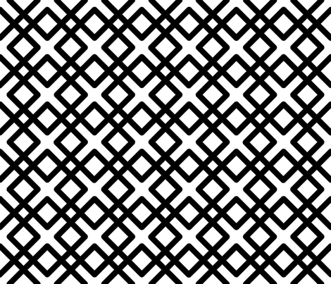 Modern Weave in black over white fabric by fridabarlow on Spoonflower - custom fabric