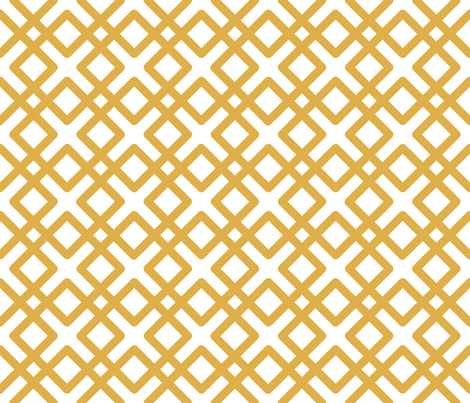 Modern Weave in Gold Yellow fabric by fridabarlow on Spoonflower - custom fabric
