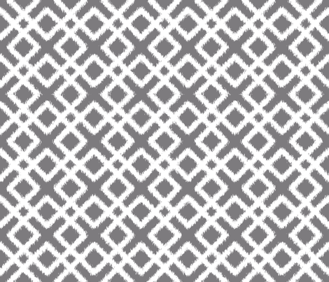 Weave Ikat in Gray fabric by fridabarlow on Spoonflower - custom fabric