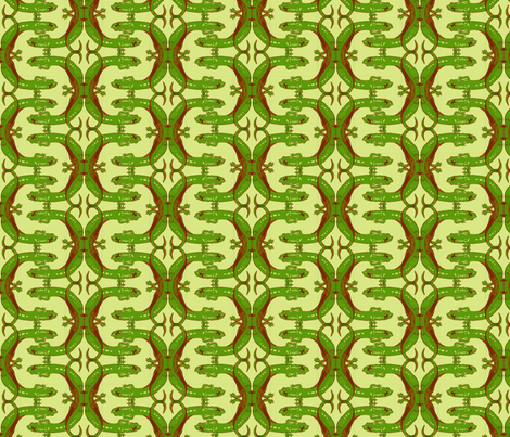 Green Salamander Letter C fabric by artbybaha on Spoonflower - custom fabric