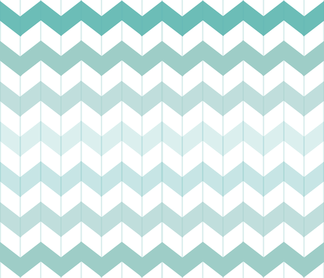 Chevron ombre teal fabric smitche spoonflower for Teal chevron wallpaper