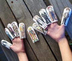 Doctor Who Inspired Finger Puppets